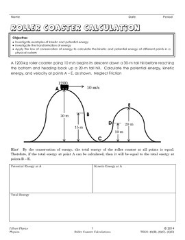 roller coaster conservation of energy calculations by i heart physics. Black Bedroom Furniture Sets. Home Design Ideas