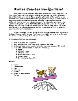 Roller Coaster Design Challenge