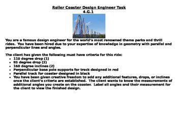 Roller Coaster Design Task