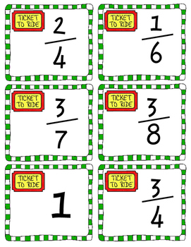 Fractions on a Number Line Game, Worksheets, Craftivity
