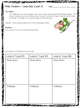 Roller Coaster Labs (Set of 14) and Vocabulary Cards