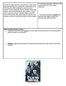 Roller Coaster PE and KE Homework Bundle