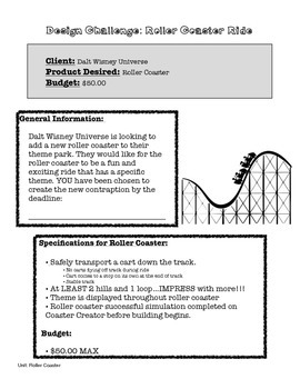 Roller Coaster Physics: An Investigation of Potential and Kinetic Energy