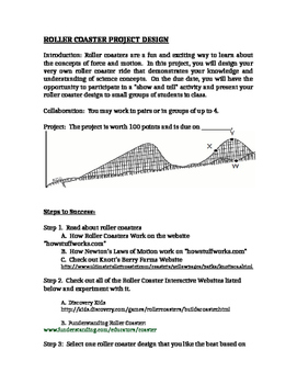 Roller Coaster Project for Physical Science