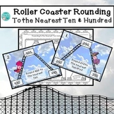 Roller Coaster Rounding to the Nearest  Ten & Hundred Task Cards