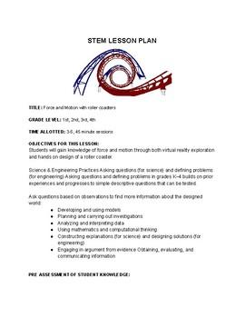 Roller Coaster STEAM Lesson Plan