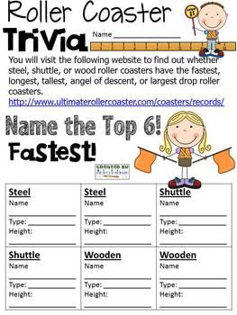 Roller Coaster Trivia