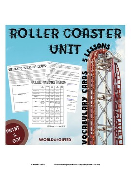 Roller Coaster Unit- 5 Lessons {Energy, Gravity, Newton's Laws, Friction, Build}