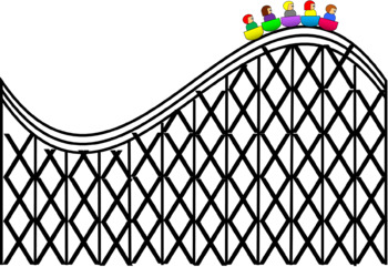 Roller Coaster With Side View Kids Clip Art