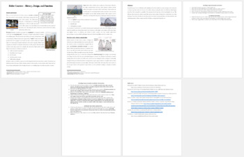The Science of Roller Coasters - Science Reading Article - Grades 5-7