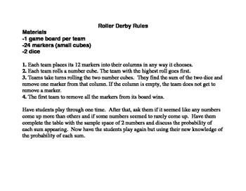 Roller Derby (A Probability Game)