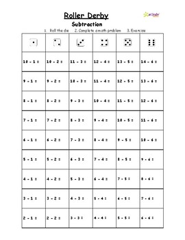 Roller Derby - Addition and Subtraction