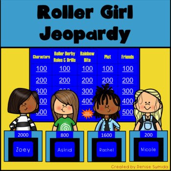 Roller Girl by Victoria Jamieson Jeopardy