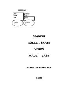 "Preterito: Stem Changing ""Roller Skate"" Verbs in Spanish (revised)"