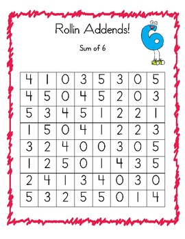 Rollin Addends - Finding the missing addend game