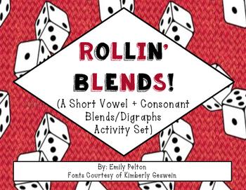 Rollin' Blends! (Beginning Consonant Blends/Digraphs + Short Vowel Rimes) [K-1]