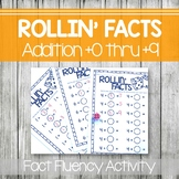 Fact Fluency Activity- Addition- Rollin' Facts