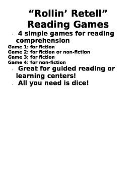 Rollin' Retell Reading Games
