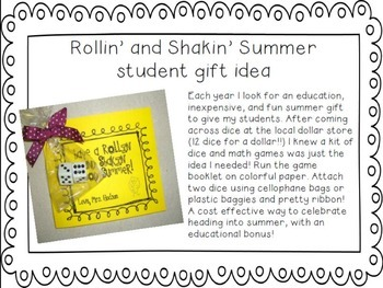 Rollin' and Shakin' Summer End of Year/Summer Gift