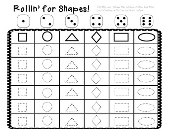Rollin' for Shapes Game