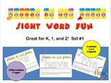 Rollin in the Dough Sight Words Great for K, 1, and 2 Set 1