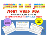 Rollin in the Dough Sight Words With an Editable page! for