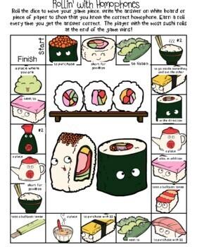 Rollin' with Homophones! Vocabulary Games and Activities for Third Grade