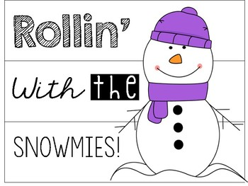 Rollin' with the Snowmies! Light Box Insert