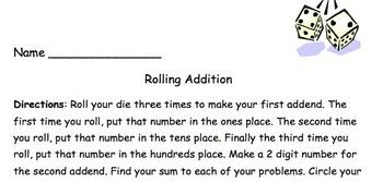 Rolling Addition