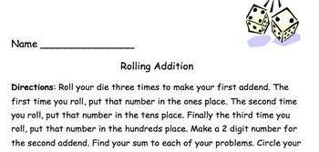 Rolling Addition