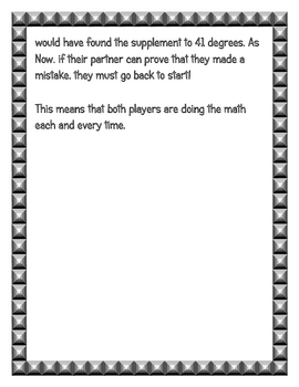 Rolling C & S Board Game (Complementary and Supplementary Angles)