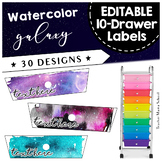 Rolling Cart 10 Drawer Labels EDITABLE