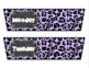 Rolling Cart Drawer Labels * EDITABLE * Purple Leopard Print and Chalk