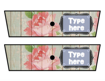 Rolling Cart Drawer Labels * EDITABLE * Wood Rose and Chalk