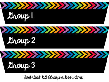 Rainbow {EDITABLE} Rolling Cart Drawer Labels