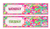 Rolling Cart Labels - 8 to 10 Drawers - Lilly Inspired! Editable!