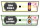 Rolling Cart Labels * EDITABLE * Colorful Watercolor Stripes with CherryBlossoms