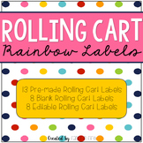 Rolling Cart Rainbow Labels