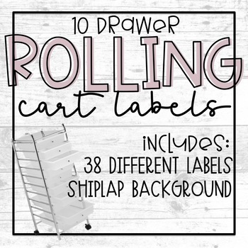 Rolling Cart Shiplap Labels