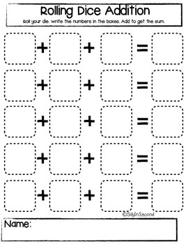 Rolling Dice Addition (3 Addends)