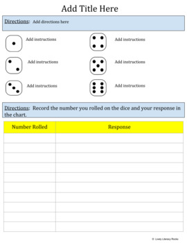 Rolling Dice Game Template