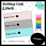 Rolling Drawer Cart Editable Labels