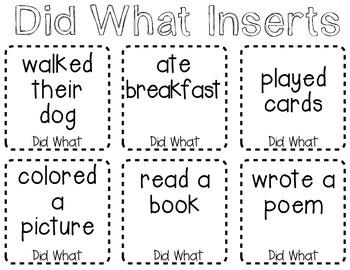 Creating Sentences - Rolling Fun!