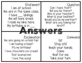 Rolling with Commands, Statements, Questions, and Exclamations!