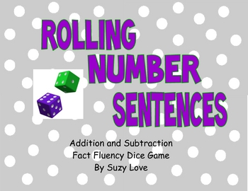 Rolling Number Sentences Math Game
