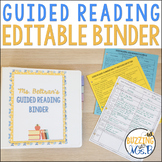 Guided Reading Editable Binder for K-5