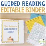 Guided Reading Editable Binder for K-5