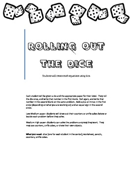 Rolling Out the Dice Math Center