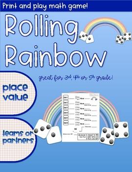 Rolling Rainbow Math Game