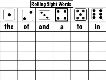 Rolling Sight Words